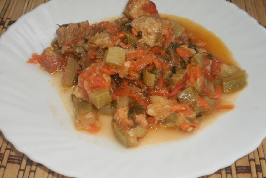 Свинина с кабачками в мультиварке - пошаговый рецепт с фото на