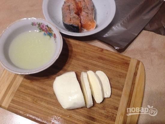Лосось, запеченный с моцареллой - пошаговый рецепт