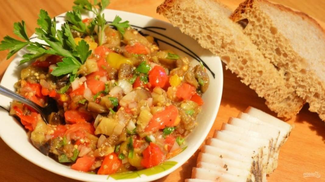 Самая вкусная баклажанная икра - Сырая - пошаговый рецепт с фото на