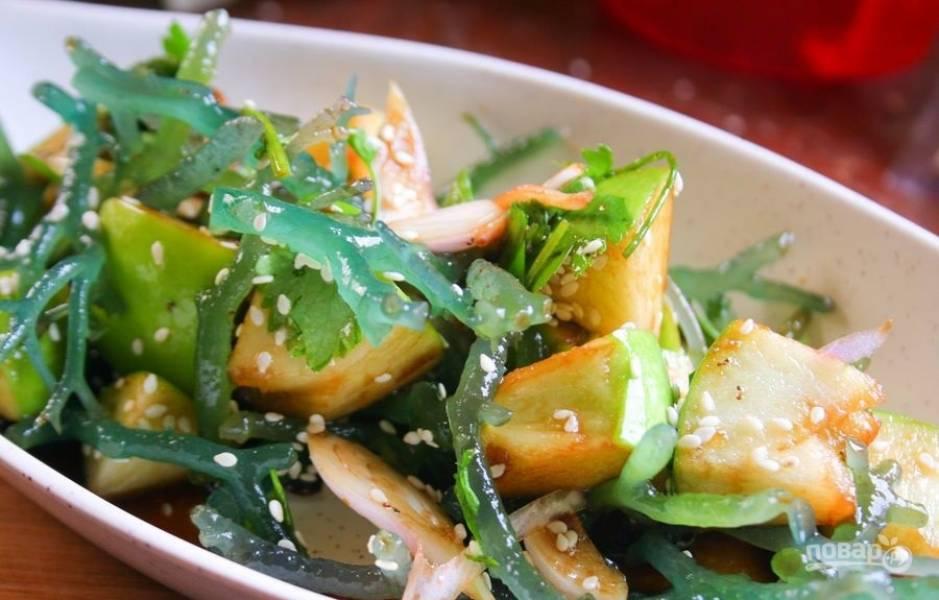 Салаты с морской капустой рецепты с пошаговым фото