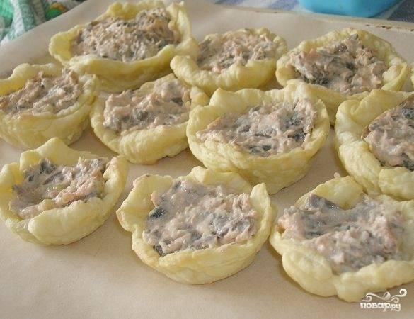 Жюльен в тарталетках - пошаговый рецепт с фото на