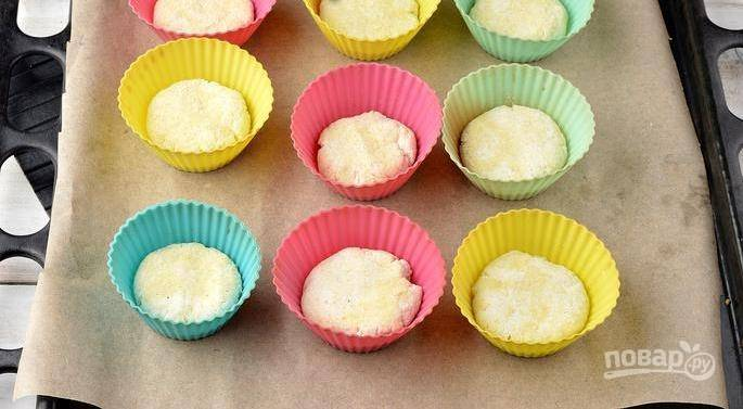 Сырники в формах для кексов в духовке