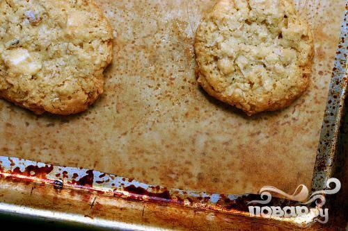 Овсяное печенье с белым шоколадом - пошаговый рецепт