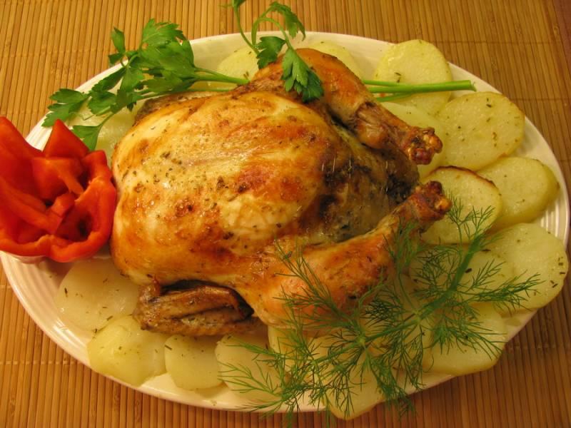 Румяная курица в мультиварке - пошаговый рецепт с фото на