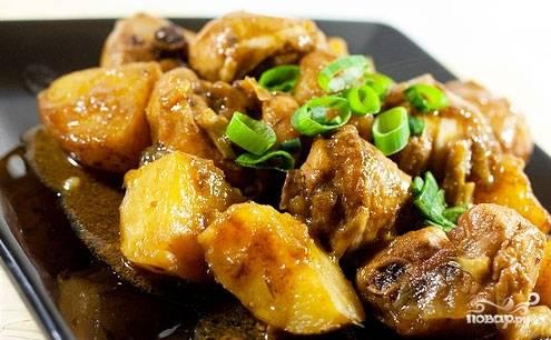 Картошка с мясом в мультиварке