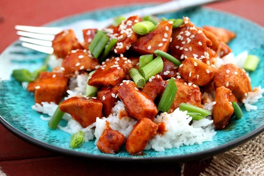 Курица по-японски - пошаговый рецепт