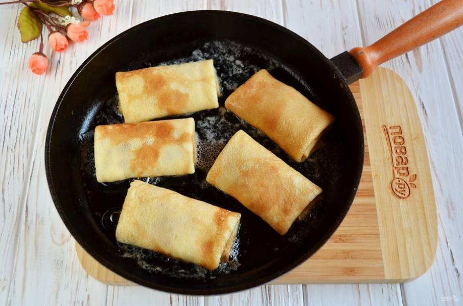 Блинчики, фаршированные сыром - пошаговый рецепт