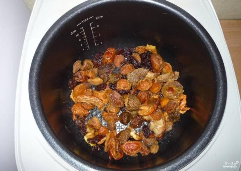 Морс из сухофруктов - пошаговый рецепт