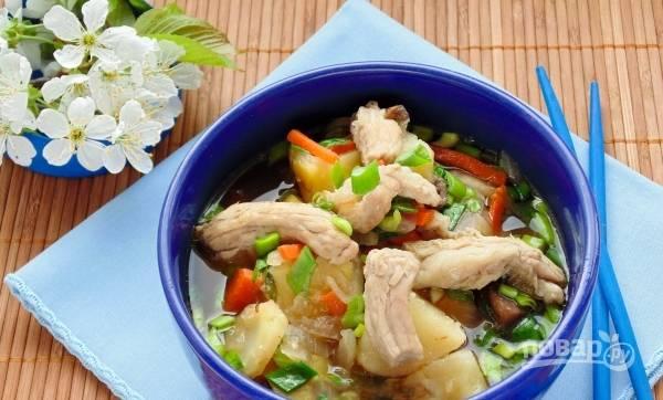 Мисо суп со свининой