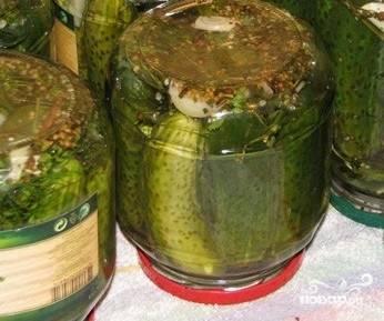 Огурцы изменят свой цвет с ярко-зеленого на оливковый. Приятного аппетита!
