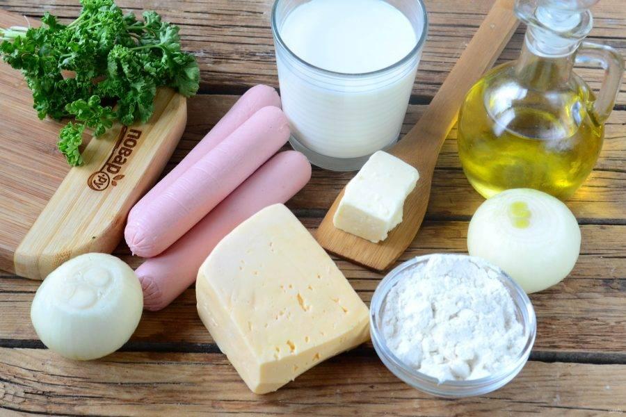 Хот-дог в луковых колечках - пошаговый рецепт