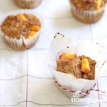 Персиковые маффины - пошаговый рецепт