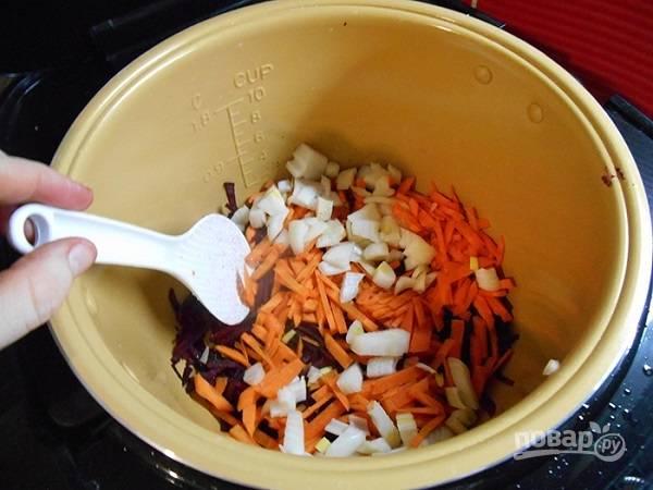Борщ вегетарианский в мультиварке пошаговый рецепт с