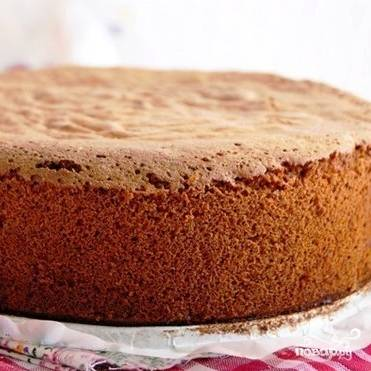 Вот такой вот красивенький медовый бисквит у вас получится.