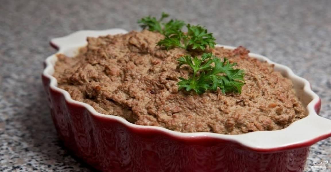 Печеночный паштет в домашних условиях - пошаговый рецепт