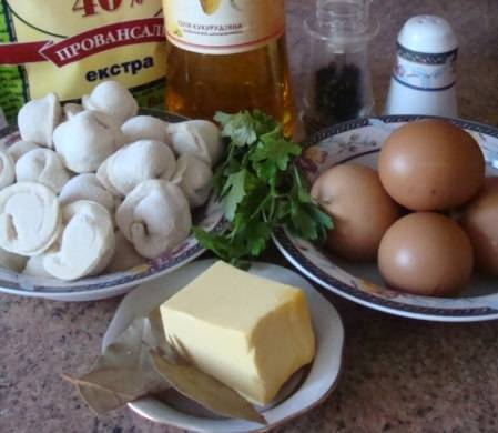 Омлет с пельменями - пошаговый рецепт с фото на
