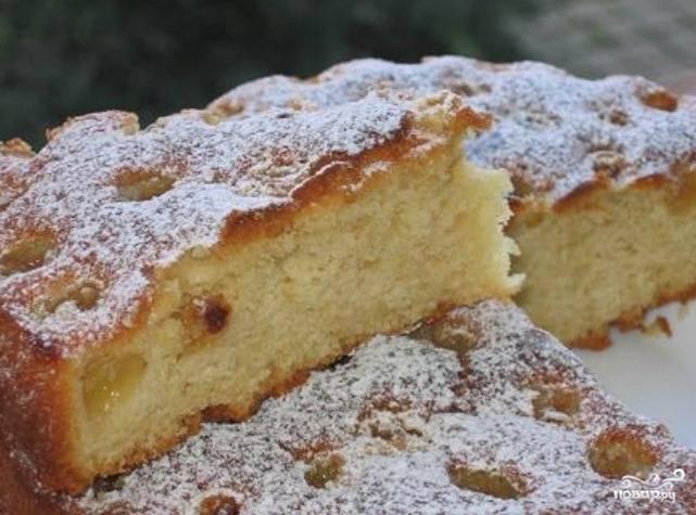 Бисквит шарлотка с яблоками рецепты