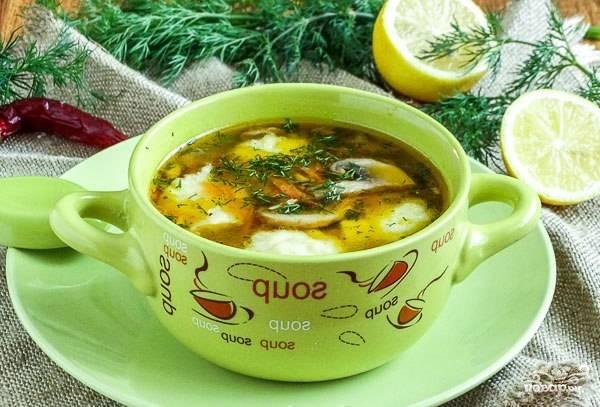 Гречневый суп с картофельными клецками