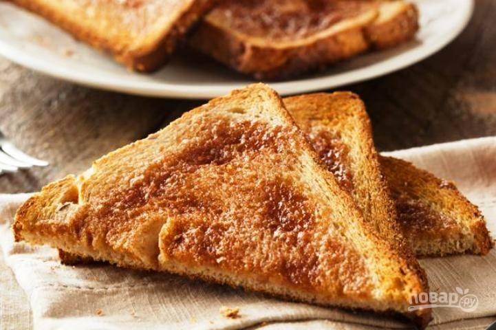 Вкусные гренки из белого хлеба