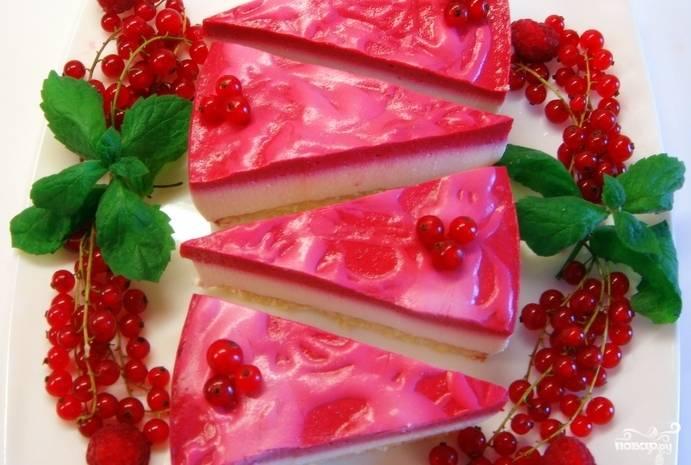 Йогуртово-смородиновый торт рецепт с фото