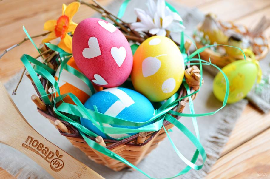 Украшение пасхальных яиц (мастер класс)