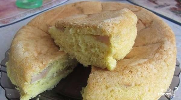 Пирог с яблоками в мультиварке - Поларис - пошаговый рецепт с фото на