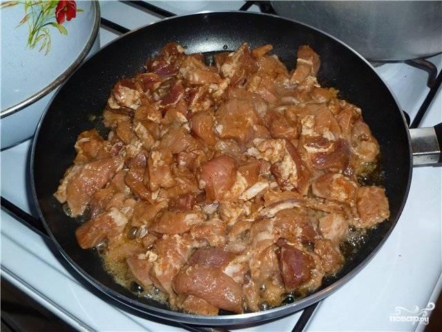 Свинина с белыми грибами - пошаговый рецепт