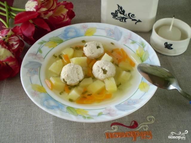 Простой суп с фрикадельками
