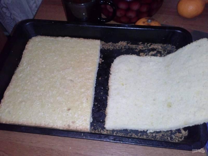 Бисквитный вишневый торт с творожным кремом - пошаговый рецепт