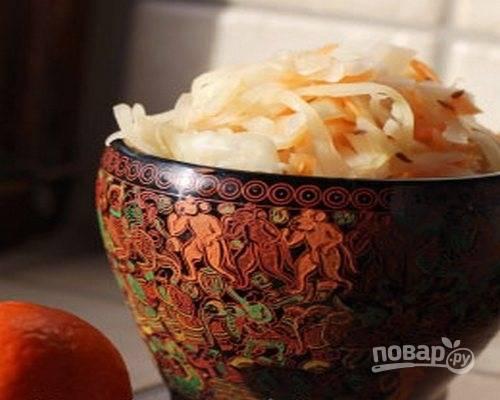 Маринованная капуста кусочками рецепт с фото