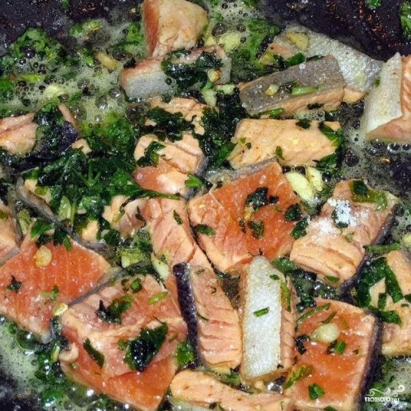 Ризотто с красной рыбой - пошаговый рецепт с фото на