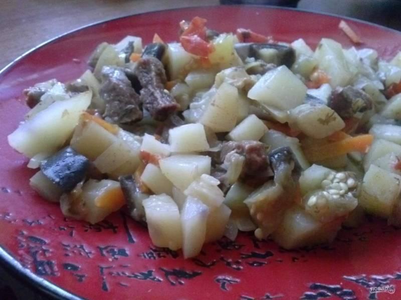 Рецепт мяса с овощами в рукаве
