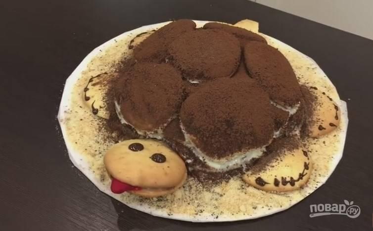 Торт черепашка со сгущенкой рецепт с пошаговым