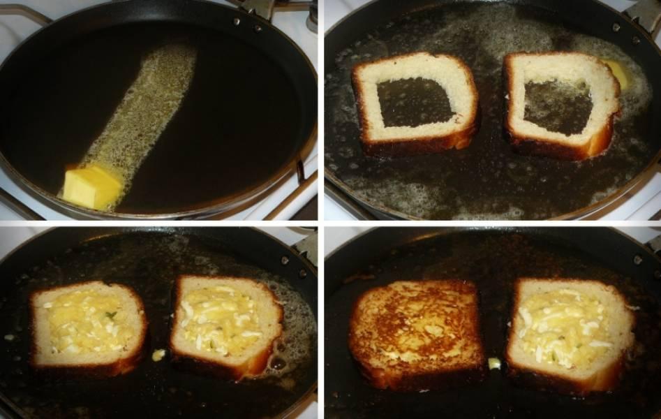 Бутерброды на сковороде - пошаговый рецепт с фото на
