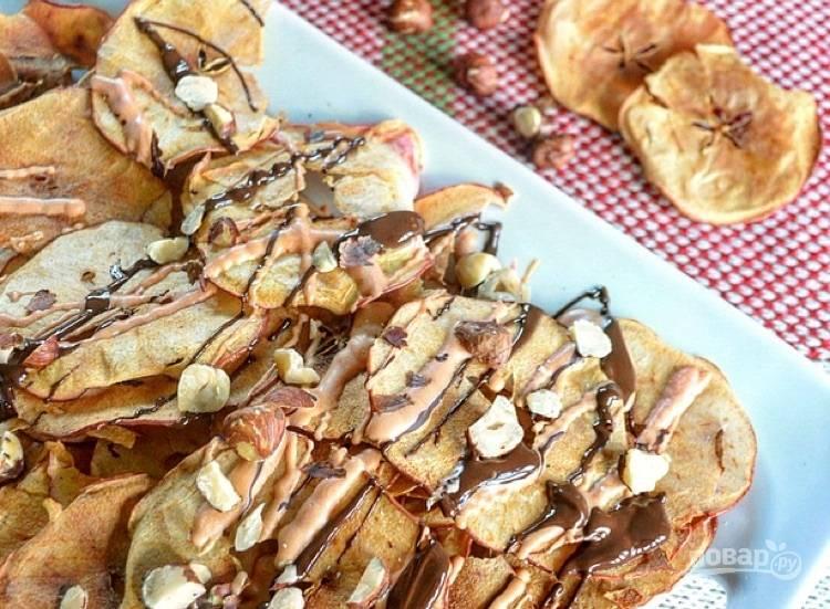 Чипсы из яблок в духовке
