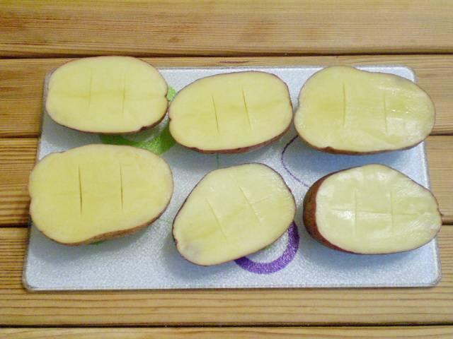 Картошка с салом и чесноком в духовке - пошаговый рецепт