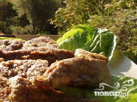 Жареная говяжья печенка с горчицей - пошаговый рецепт с фото на