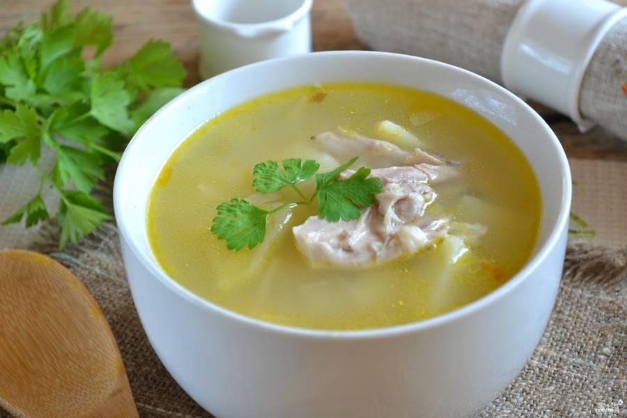 Суп вермишелевый с курицей пошаговый рецепт с