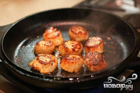 Паста с морскими гребешками - пошаговый рецепт