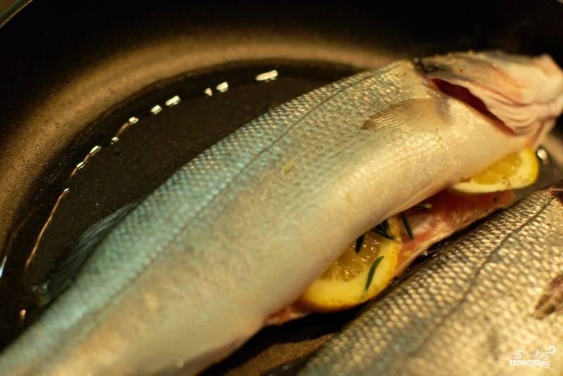 Запеченный морской окунь - пошаговый рецепт