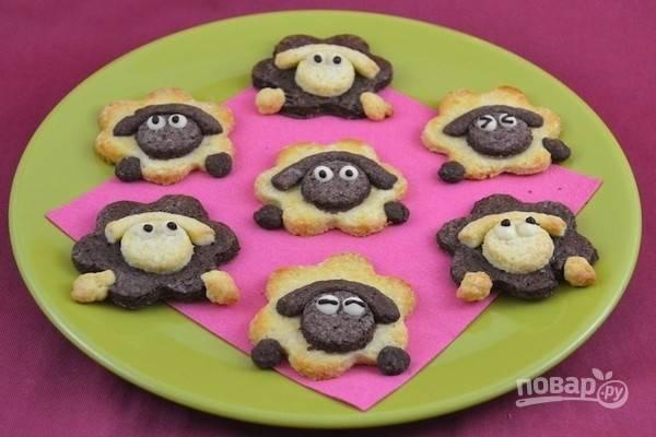 Печенье - Пасхальный барашек - пошаговый рецепт