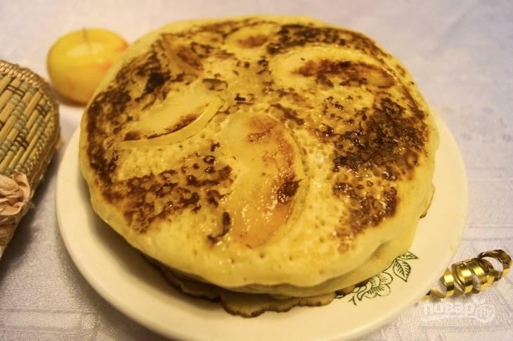 Панкейки с яблоками - пошаговый рецепт