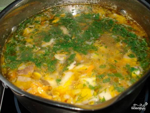 Суп из белых грибов свежих