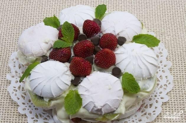 Торт из зефира без выпечки