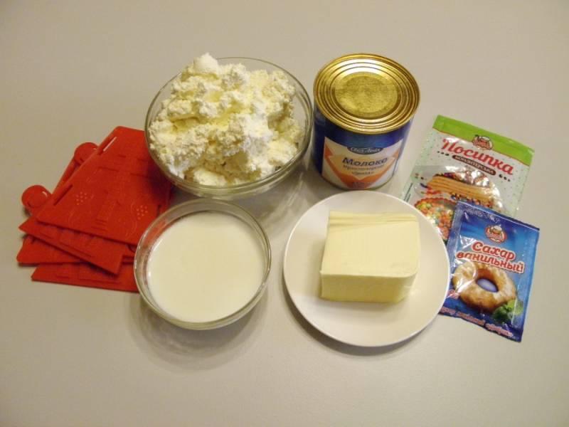 1. Приготовьте продукты. Кроме продуктов понадобится специальная форма, марля или бинт.