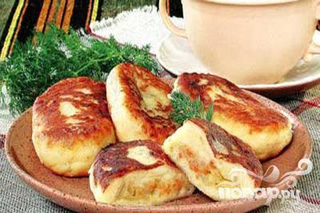 Картофельные пирожки с капустой в духовке рецепт