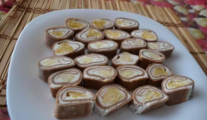 Сладкий ролл с фруктами - пошаговый рецепт с фото на