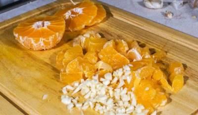Курица с мандаринами - пошаговый рецепт с фото на