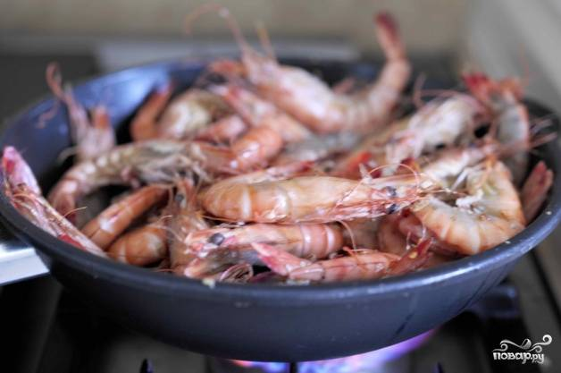 Чесночные креветки - пошаговый рецепт