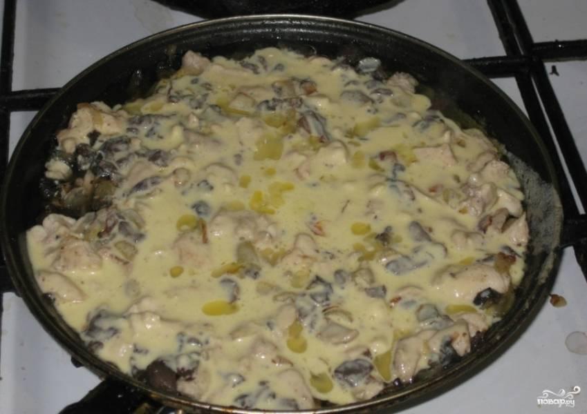 Жюльен в сковороде - пошаговый рецепт с фото на